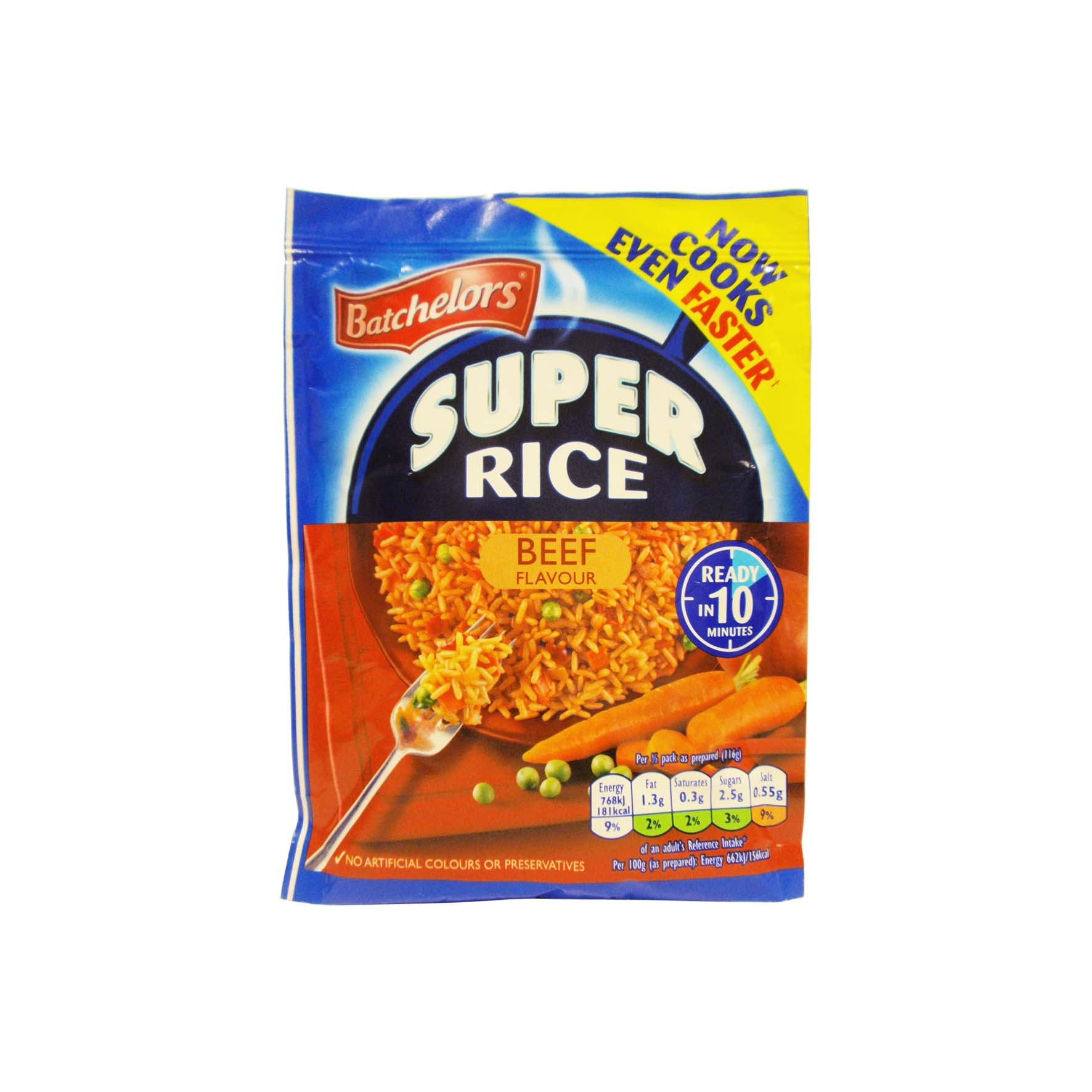 Batch super rice sabor ternera 100g